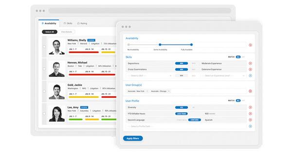 viWork Allocation product screenshot