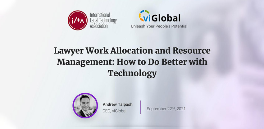 Associate utilization, equitable work distribution are the top resource allocation challenges for law firms: viGlobal poll